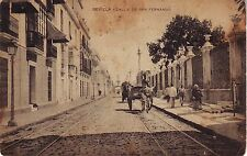 Spain Sevilla - Calle de San Fernando old unused postcard