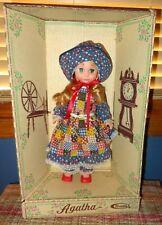 "Beautiful Vtg 1975 Uneeda Doll 15"" Agatha In Box Holly Hobby Style Gingham Dress"