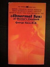 Abnormal Sex; A Doctor's Casebook: Sava Paperback 1967 Sleaze/Adult E-18