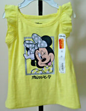 NWT Infant Girls DISNEY JUMPING BEANS Dress Top 12M Yellow Minnie Mouse Graphic