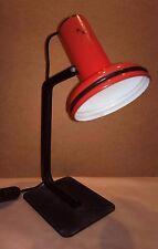 Lampe de bureau métallique orientable rouge red desk lamp adjustable