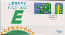 GB - JERSEY 2000 - Europa 2000' Building in Europe SG 934/5 FDC MAP