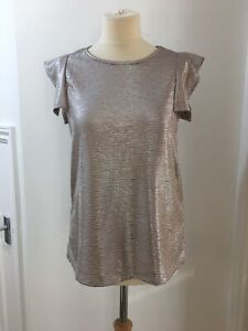 Ladies Maette Top Rose Gold/good/sparkle, Size Medium, Lovely Condition