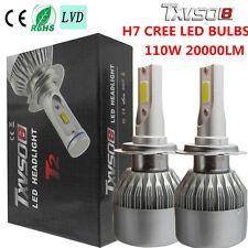 110W CREE H7 LED Car Headlight Bulbs Kit 20000LM Driving Lamp Beam 6000K White