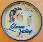"""Lebanon Valley Beer Metal Serving Tray 13 1/4"""" Diameter Vintage"""