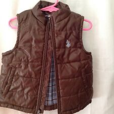Polo boys vest 18 mo brown reversible  poly blend zipper front pockets