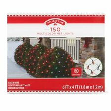 Holiday Time 150 MULTICOLOR Net Lights Green Wire Christmas Wedding Outdoor Indo