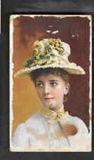 LARGE SIZE - DUKE'S CIGARETTES TOBACCO CARD -- STARS of the STAGE