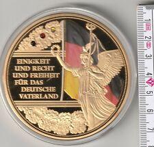 Die deutsche Nationalhymne  vergoldet 70 mm 110 g Medaille Gigantprägung PP (19)