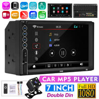 7'' Double 2 DIN HD Car MP5 Player bluetooth Touch Screen Stereo Radio Camera