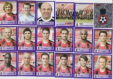 PANINI FOOTBALL 2006 OGC NICE LOT DE 18 IMAGES