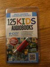 e-GO!  Kids Library 125 Kids Audiobooks, pre-loaded 8GB flash drive, new/sealed