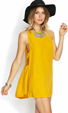 Forever 21 Gold Yellow Saffron Open Side Cutout Mini Dress