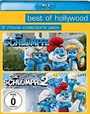 DIE SCHLÜMPFE 1+2 (Neil Patrick Harris, Hank Azaria) 2 Blu-ray Discs NEU+OVP