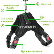 Large Pet Dog Adjustable Harness Leash Backpack Vest Heavy Duty Double Handle
