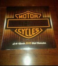 Harley Davidson 16 Month 2015 Calendar Sealed New iconic motorcycle bike hobby