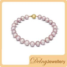 Brande New Freshwater Pearl Bracelet with 9K Yellow Gold Clasp Delny