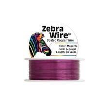 Zebra Coated Copper Wire Magenta 24 Gauge 20 Yards