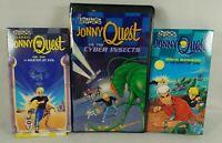 1964 Lot of 3 Jonny Quest Video Cassette Tapes VHS Read Description Has inserts!