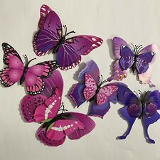 3D Butterfly Pvc Wall Stickers Magnetic Decals Home Room Art Décor 12pcs