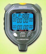 SEIKO S058 100-Lap Backlit Stopwatch + Dual Countdown