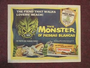 Monster Of Piedras Blancas-   Original 1959  Title Card
