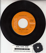 "THE GUESS WHO Guns, Guns, Guns 7"" 45 rpm vinyl record NEW + juke box title strip"