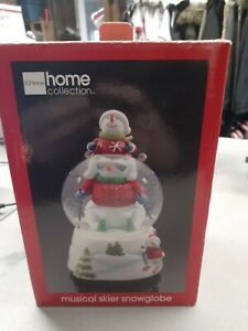 JCP Home Collection Musical Skier Snowglobe