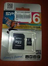 16 GB SP  Silicon Power micro SD Card  Class 6 - Neu