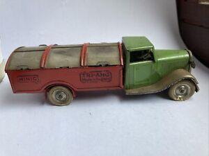 Triang Minic Clockwork Tinplate Waste Disposal Lorry Vintage