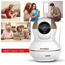 AKASO Wireless IP Security Camera Baby Monitor Night Vision Webcam Refurbished