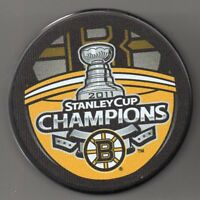 Boston Bruins 2011 NHL Stanley Cup Champions Hockey Puck + FREE Cube