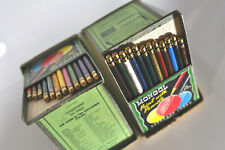 Vtg Mongol (24) colored pencils Ebarhard Faber 1950 made in USA