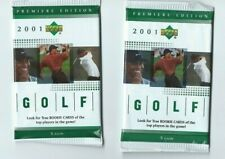 2001 UD Upper Deck GOLF 2 Pack Hobby from Rack Box 5 Cards per Pack