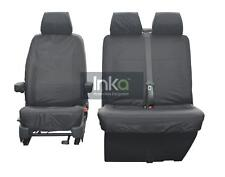 VW Transporter T5 T5.1 GP 1 + 2 Front Inka Tailored Waterproof Seat Covers Grey