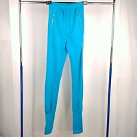 The Tall Collection Vintage 1980's Bright Blue Leggings Pants Womens Size 10-12