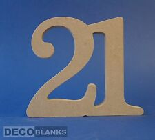 18mm thick joined up numbers Birthdays coming of age  8 10 12 15 20 25cm