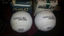 "2 rare Dudley ""White Thunder�/Heat 1999  Softballs Wt-12-Nd Leather 50 core"