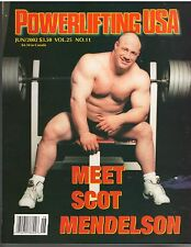 POWERLIFTING USA muscle weightlifting magazine/Scot Mendelson 6-02