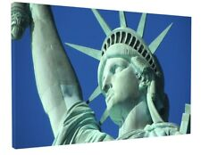 STATUE OF LIBERTY CANVAS PICTURE PRINT WALL ART CHUNKY FRAME LARGE 1879-2