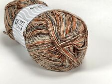 Ice Yarn self striping sock yarn brown, cream, orange, grey 100 gr/ 400 m