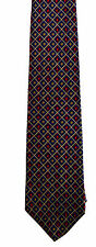 Men's New Sik Neck Tie, Classic, Short Blue flower check design by Bert Pulitzer