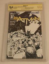 Batman #1 CBCS > CGC 9.4 WHITE SS Snyder 1:200 Sketch Variant RARE DC New 52
