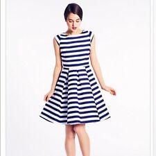 NWT! $548 KATE SPADE NEW YORK MARIELLA BLUE STRIPE DRESS, SIZE 10