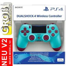 Original Sony CONTROLLER PS4 WIRELESS DUALSHOCK PlayStation 4 V2 Berry Blue Blau