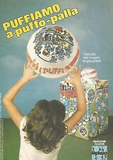 X1955 Puffiamo a puffo-palla - Mondo - Pubblicità del 1983 - Vintage advertising