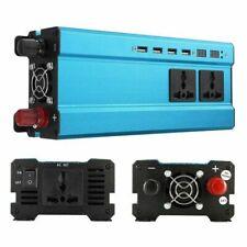 4000W Car Solar Power Inverter 12 DC to 220V AC Sine Wave 4 USB Charger Blue