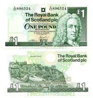 SCOTLAND ROYAL BANK £1 Pound UNC Banknote (2001) P-351e Paper Money
