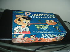 1940 Dietz Gum Pinocchio Empty Display Box Walt Disney's