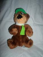 "10"" Vtg 1980 Hanna Barbara Yogi Bear Mighty Star Plush Soft Toy Stuffed Animal"